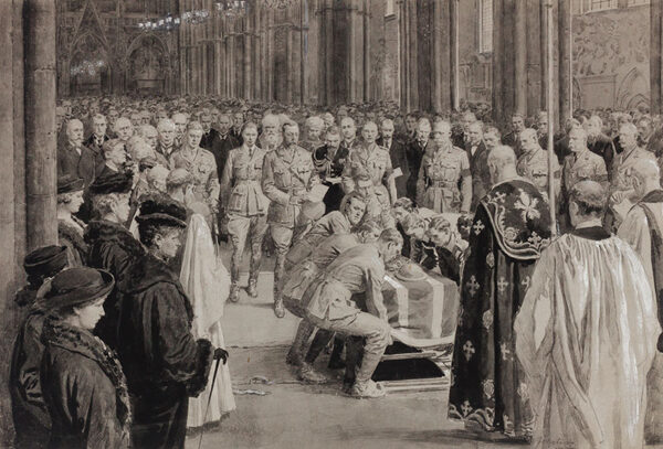 MATANIA Fortunino (1881-1963) - The burial of the Unknown Warrior, Westminster Abbey.