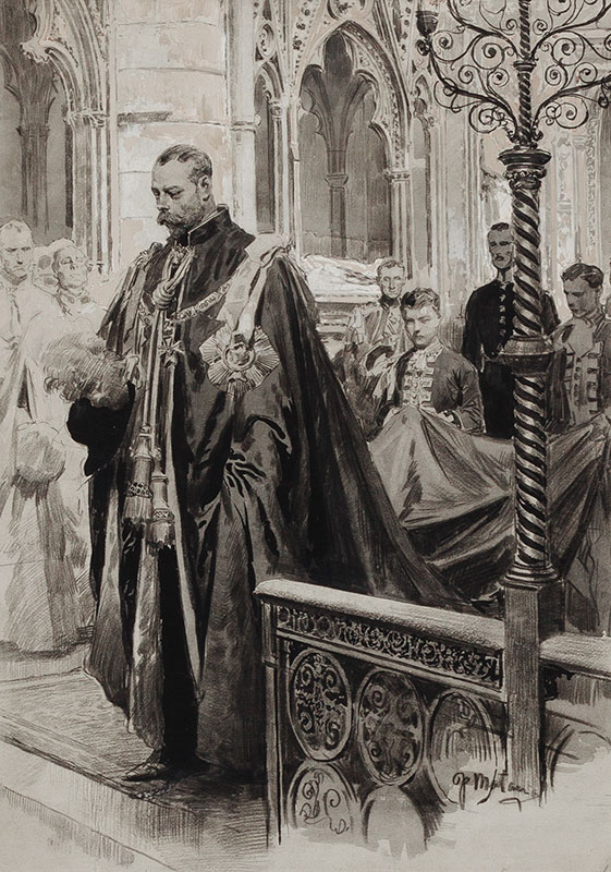 MATANIA Fortunino (1881-1963) - Westminster Abbey: George V 'passing through the Sanctuary after having been in the Chapel'.