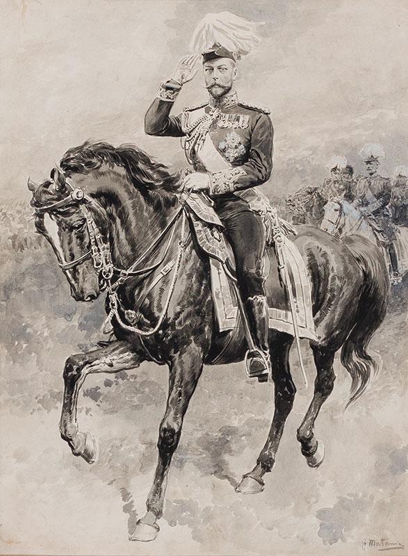 MATANIA Fortunino (1881-1963) - George V at a Victory Parade.