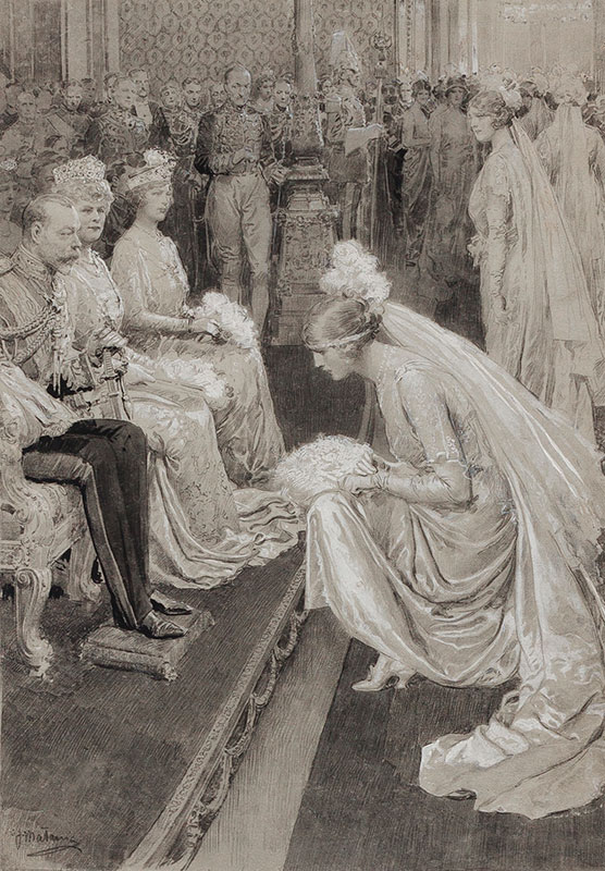 MATANIA Fortunino (1881-1963) - George V and Queen Mary 'At the First Court of 1922'.