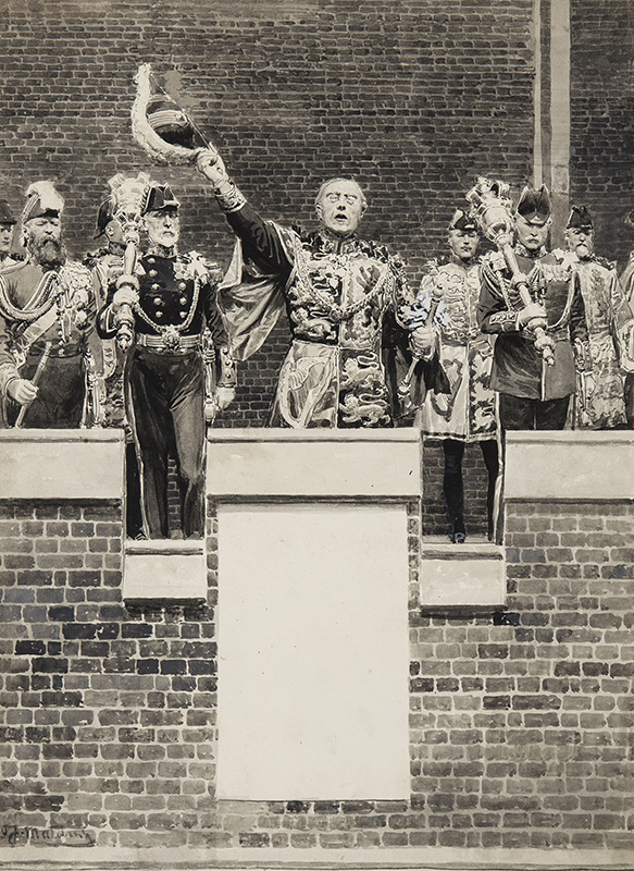 MATANIA Fortunino (1881-1963) - Proclamation of George V.