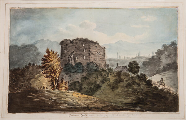 MAXWELL E. (Early 19th Century) - 'Cathcart Castle – belonging to Lord Cathcart'.