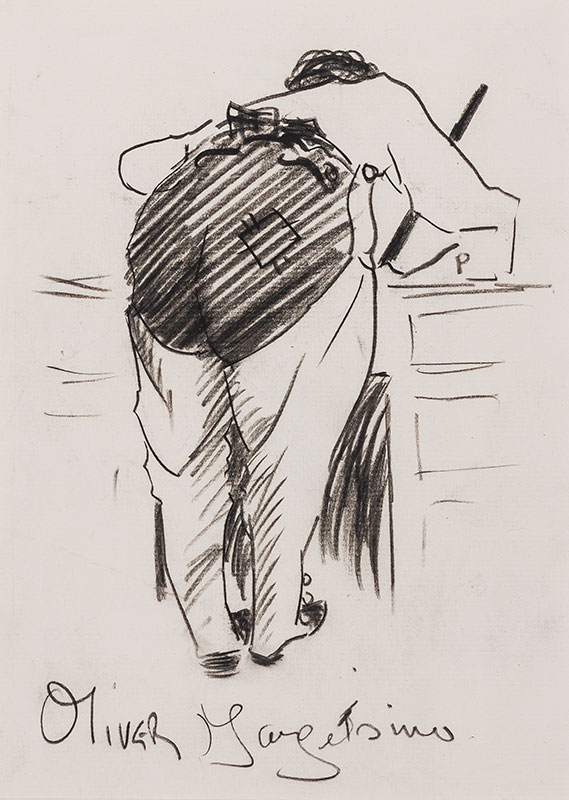 MAY Phil (1864-1903) - 'Oliver Margets inv' – an illustrator at work.