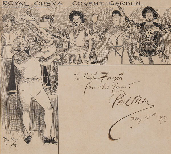MAY Phil R.I. (1864-1903) - 'Royal Opera Covent Garden.
