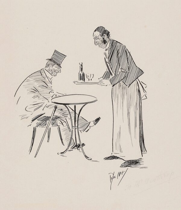 MAY Phil (1864-1903) - At a café table.