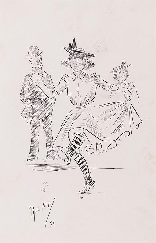MAY Phil (1864-1903) - Street Dancer.