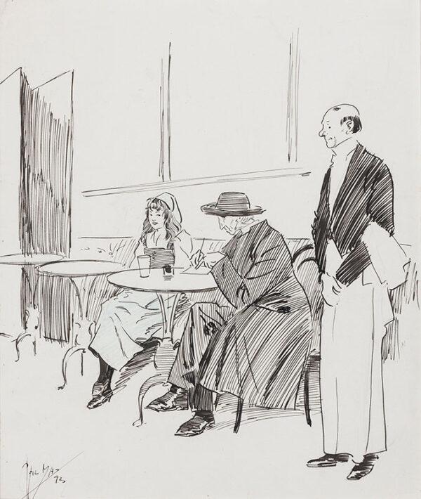 MAY Phil (1864-1903) - 'Corner of a Café in Australia'.