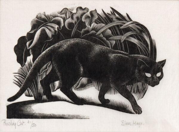 MAYO Dame Eileen (1906-1994) - 'Prowling Cat'.