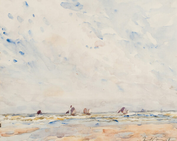 MAYOR Fred (1865-1916) - Fishing boats off Le Touquet.