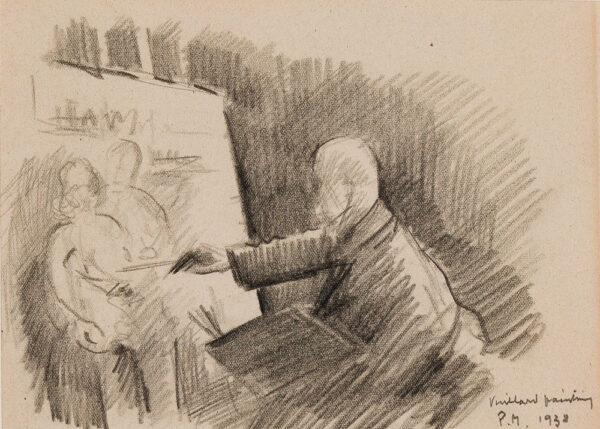 MAZE Paul (1887-1979) - 'Vuillard painting'.