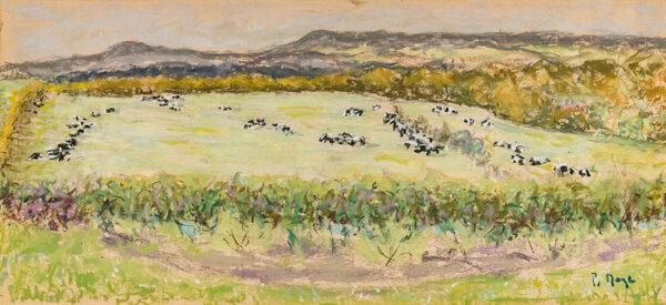 MAZE Paul Lucien (1887-1979) - Grazing cattle.