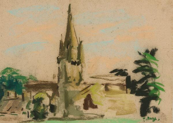 MAZE Paul (1887-1979) - Church spire.