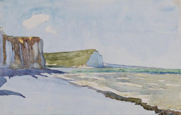 MAZE Paul (1887-1979) - Les Falaises Normande.