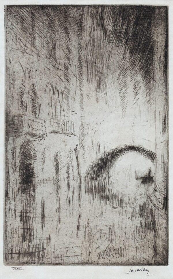 McBEY James (1883-1959) - 'The Bridge by Night' (H.
