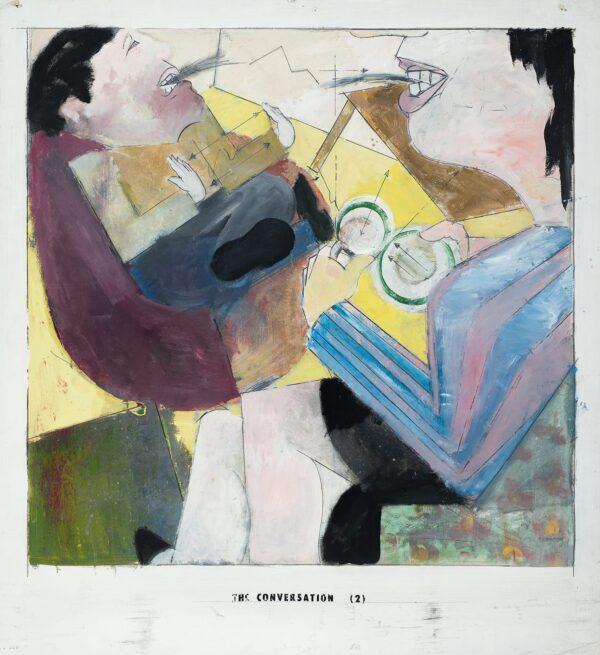 McFADYEN Jock R.A. (b.1950) - 'The Conversation (2)'.