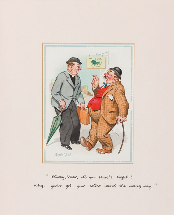 MCGILL Donald (1875-1962) - 'Blimey Vicar it's you that's tight…'.