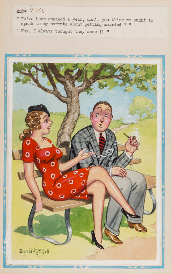MCGILL Donald (1875-1962) - 'We've been engaged a year, don't you think we might speak to my parents about getting married?' 'Why, I always thought they were!!'.