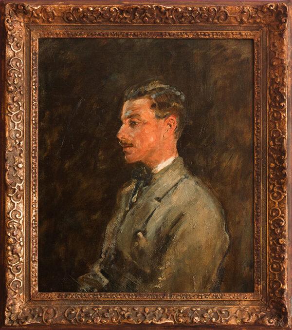 MCEVOY Ambrose A.R.A. N.P.S. (1878-1927) - 'Charles Romer Williams' (1885-1935) Oil on canvas.