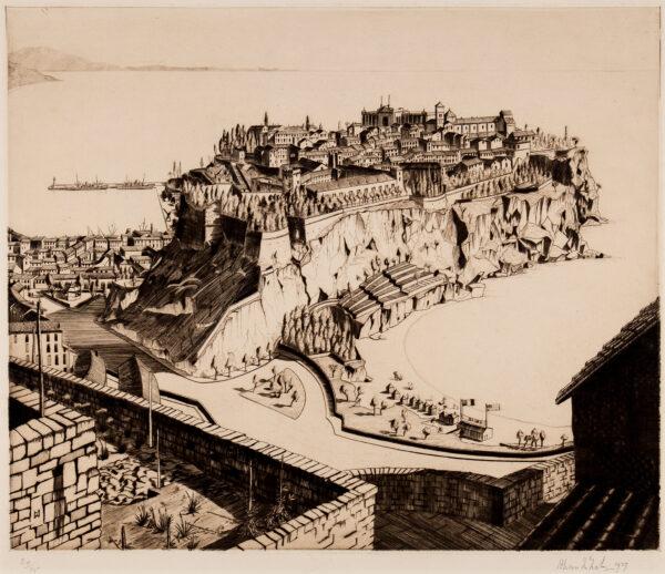 MCNAB Allan (1901-1982) - 'La Condamine, Monte Carlo'.