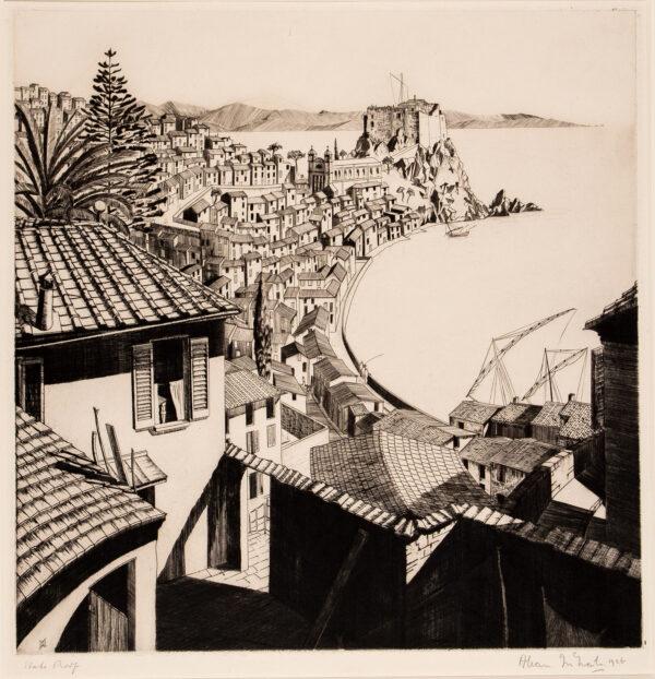 MCNAB Allan (1901-1982) - 'Scylla, Straits of Messina'.