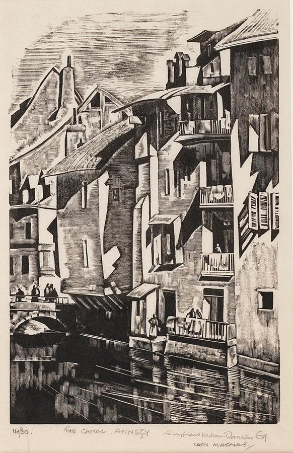MACNAB Iain (1890-1967) - 'The Canal, Annecy'.