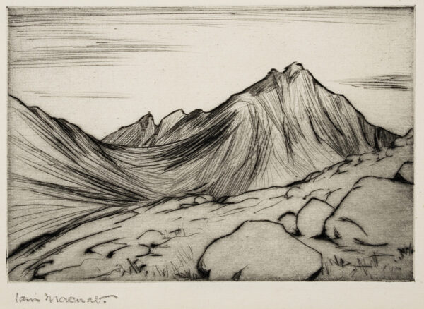 MACNAB Iain (1890-1967) - Mountain scene.
