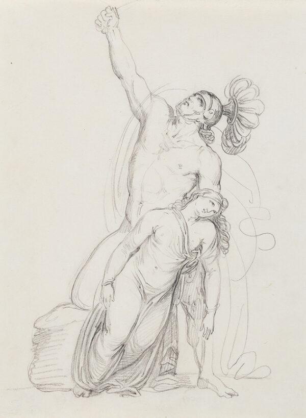 MELI Filipo (b.1795) - Avenging Warrior.