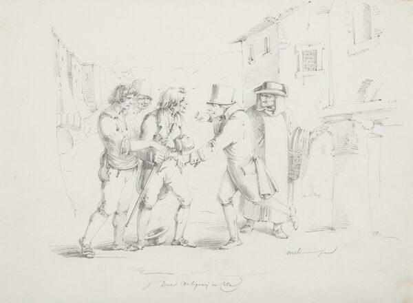 MELI Filippo (b.1795) - 'Due Antiquari in Cita'.
