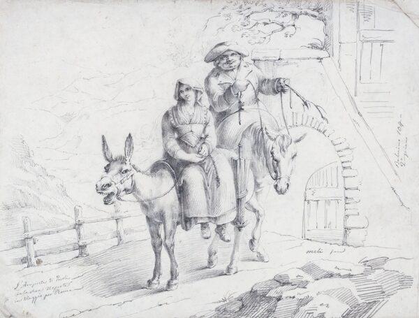 MELI Filipo (b.1795) - 'L'Arciprete di Tivoli / con la…Nepote / in viaggio per Roma'.