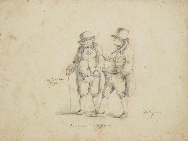 MELI Filippo (b.1795) - 'Due Mercantini di (?)'.