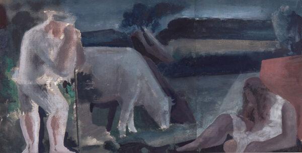 MENINSKY Bernard L.G. N.E.A.C. (1891-1950) - Figures in landscape.