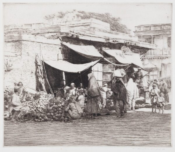 MENPES Mortimer (1855-1938) - Market in Kashmir.