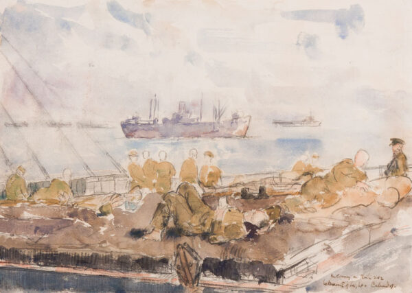 METHUEN Lord (Paul) R.A. (1886-1974) - 'The Convoy, on Ship 242 / between Isle of Wight and Calvados'.