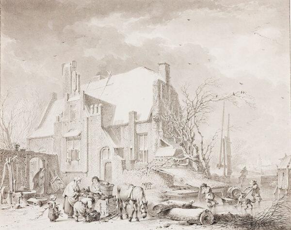 MEYER JNR Henrik de (1744-1793) - A Low Countries winter scene.