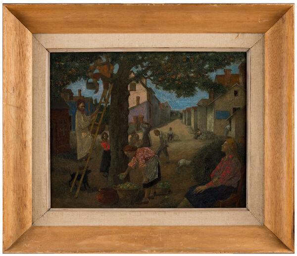 MICHONZE Gregoire (1902-1982) - Apple pickers, probably at Arpajon, Ile de France.