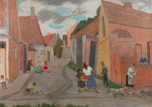 MICHONZE Gregoire (1902-1982) - 'The Village street, Ravenel, Oise'.