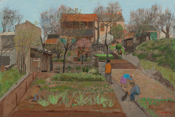 MICHONZE Gregoire (1902-1982) - Village Garden, possibly Ravenel, Oise.