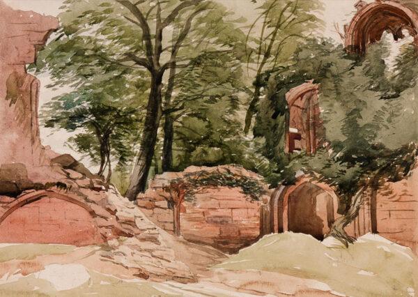 MIDDLETON John (1827-1856) - Overgrown ruins, possibly Devon.