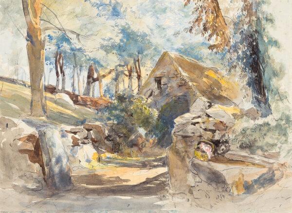 MIDDLETON John (1827-1956) - A woodland barn.