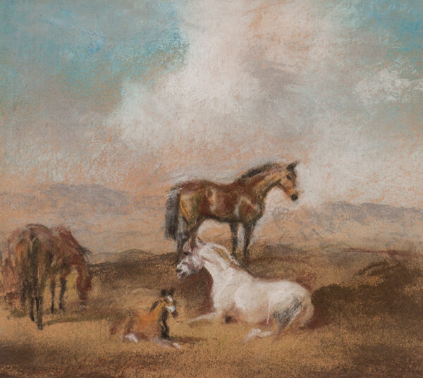 MILLAIS Raoul (1901-1999) - Horses and foal.