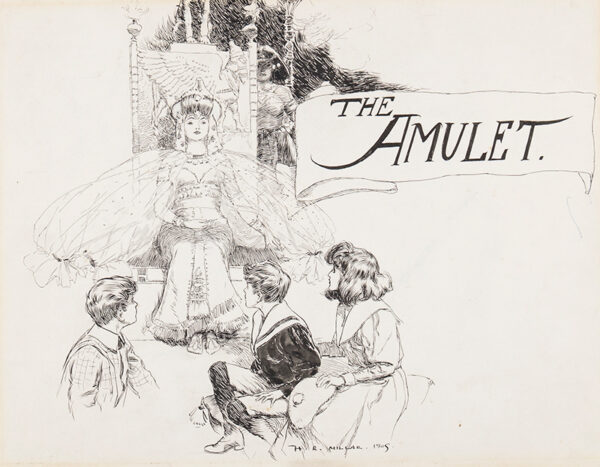 MILLAR Henry Robert (1869-1942) - 'The Amulet': Robert, Anthea, Cyril and Jane meet the Queen of Babylon.