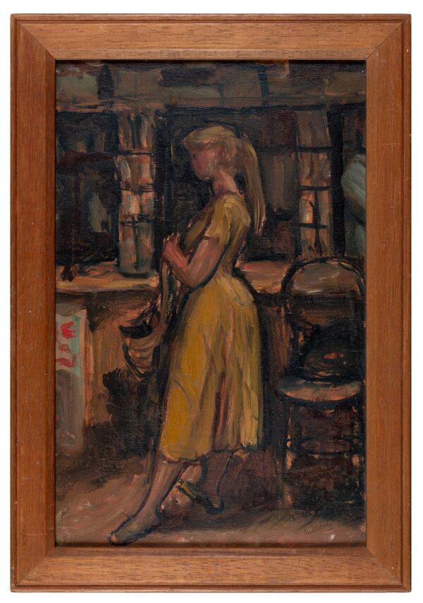 MILLARD Patrick (1902-1972) - Girl in yellow.