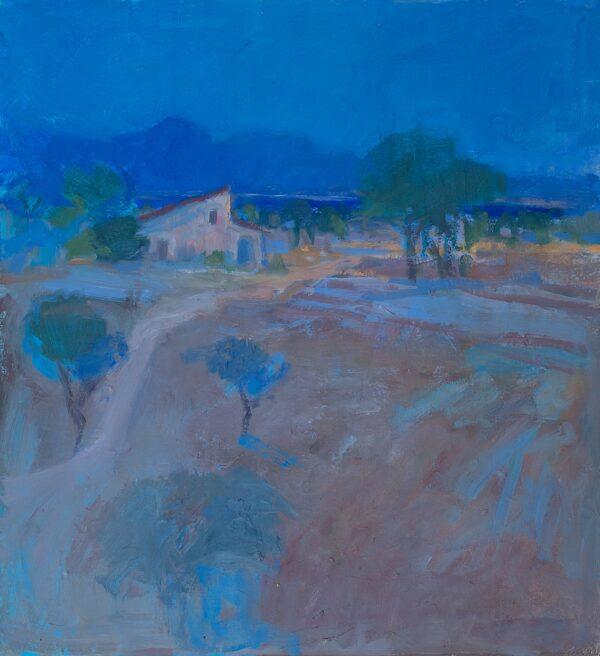 MILLER John (1931-2002) - A Mediterranean landscape.