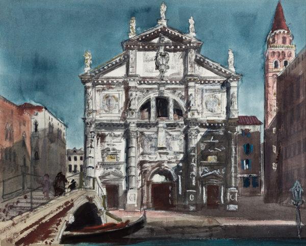 MILLER James R.S.A.R.W.S. (1893-1987) - 'San Moise', Venice.