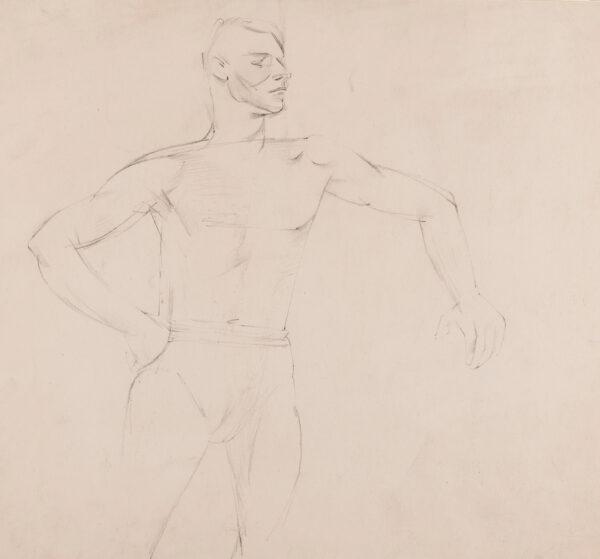 MINTON John (1917-1957) - Study of a life model.