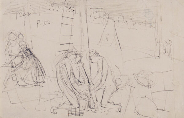 MINTON John (1917-1957) - Composition study for 'The Dice Throwers' (RCA, 1954).