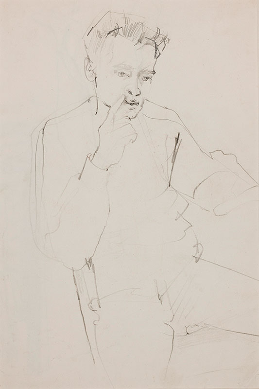 MINTON John R.B.A. L.G. (1917-1957) - Seated boy.