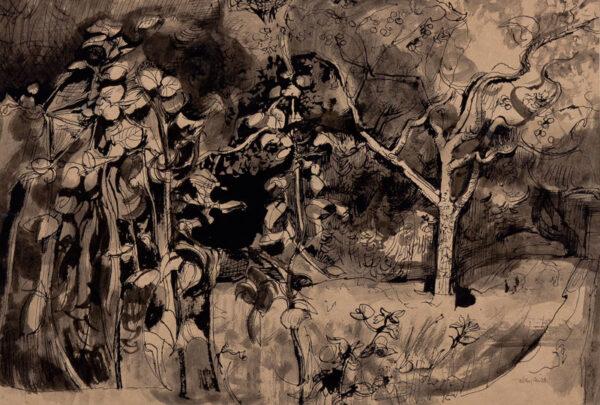 MINTON John R.B.A. L.G. (1917-1957) - 'Study of foliage'.
