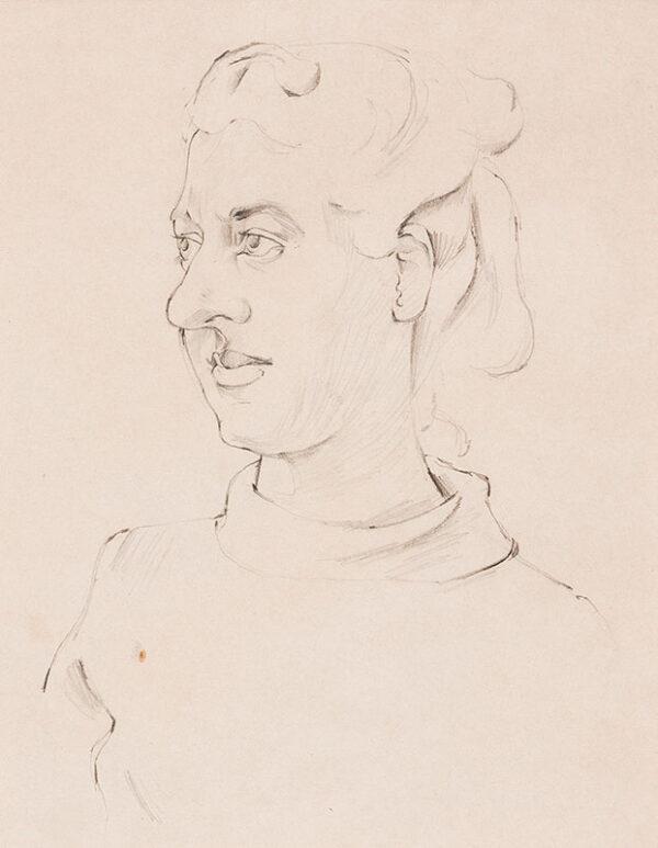MINTON John (1917-1959) - Susan Einzig (1922-2009), illustrator and friend of the artist.