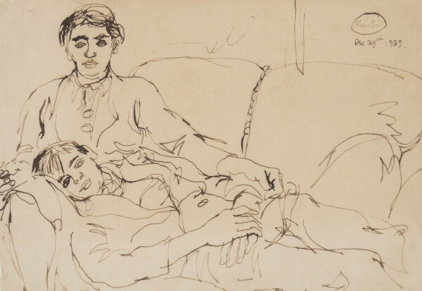 MINTON John (1917-1957) - Mother and Son.